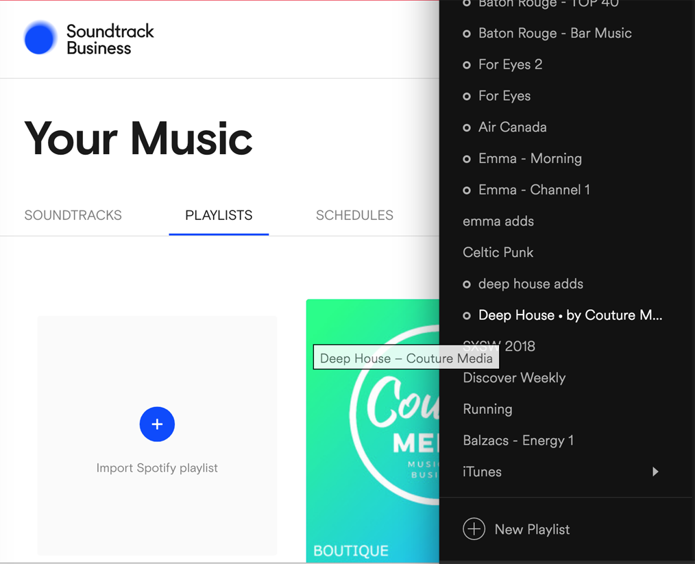 importer playliste spotify