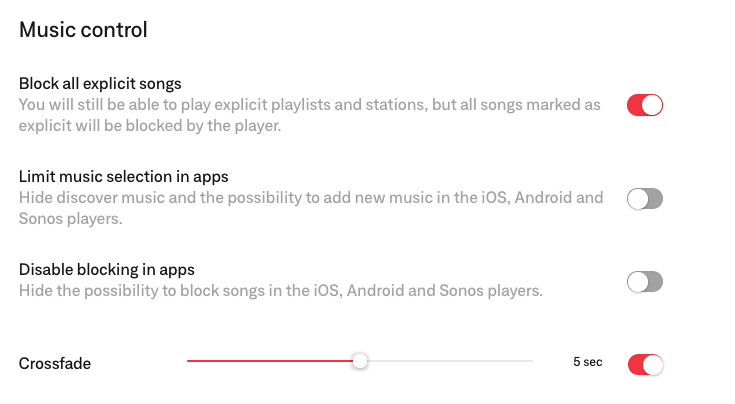 music settings for soundtrack your brand